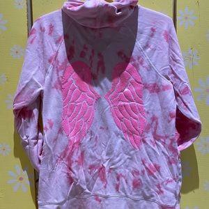 Tie Dye Pink Zip Up - Size L